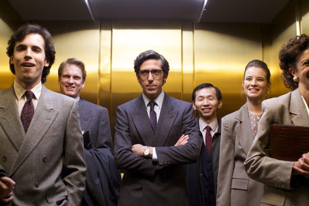 Gente en elevador
